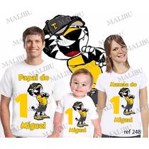 Kit Camisetas Personalizada Aniversario Tigor Tiger Com 3 Un