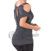 Blusa Feminina T-shirt Plus Size Moda Grande Gordinha Xxg