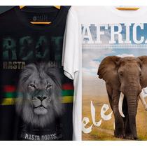 Camisetas Camisas Estampa 3d Digital - Rasta - Rock - Tatto