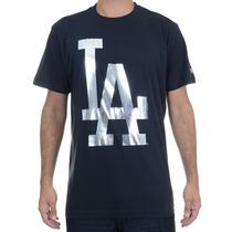Camiseta Masculina New Era Foil La Dodgers Preta