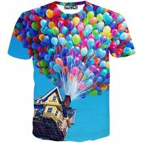 Camiseta 3d Slim Fit Luxo Camisa Estampada Importada Masc