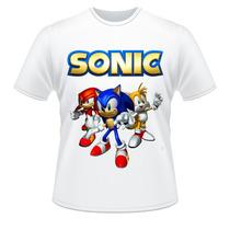 Camiseta Adulto E Infantil Sonic Camisa