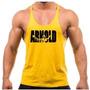 Camiseta Regata Cavada Academia Arnold Zyzz Gold