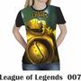 Camiseta Blusa Games League Of Legends Feminina Lol 007