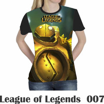 Camiseta Blusa Games League Of Legends Feminina Lol 007