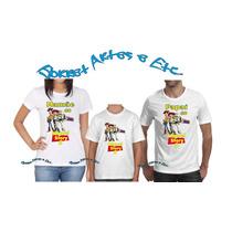 Camiseta - Camisa Personalizada Toy Story A4/ 3pçs