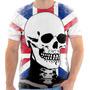 Camiseta Camisa Caveira Bandeira Inglaterra Skull England 06