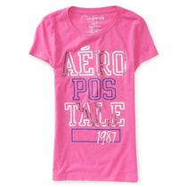 Camiseta Feminina Aeropostale Desenho Logo Foil