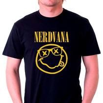 Camisetas Engraçadas Geek Nerd Nirvana Rock