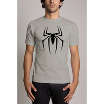 Camiseta Cinza Homem Aranha Spiderman Peter Parker