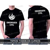 Camiseta Cursos Engenharia Civil Processo Mecânica Ambiental