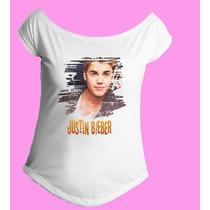 Camiseta Feminina Gola Canoa Justin Bieber Believe 04