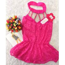 Blusa Pink Gola Bordada P