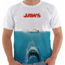 Camiseta Jaws Tubarão O Filme Poster