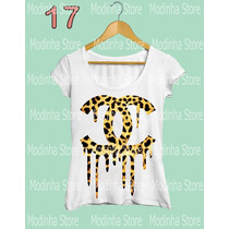 Tshirt Feminina Blusa Estampa Chanel Marca Moda 2016 Oncinha