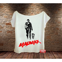 Camiseta Feminina Gola Canoa Mad Max Filme Cinema Novo Legal