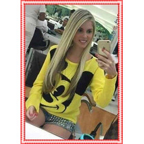 Blusa De Frio Feminina Do Mickey (linha)