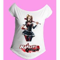 Camiseta Feminina Babylook Gola Canoa Arlequina Harley 02