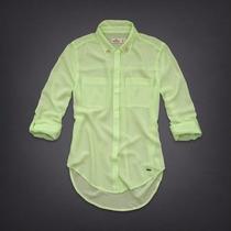 Camisa Blusa Hollister Chiffon Social Tam P 100% Original