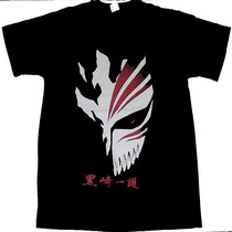 Camiseta Mascara Ichigo Hollow Anime Bleach 100% Algodão