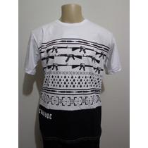Camiseta Chronic 4:20 Branca Arma Fuzil Granada Crazzy Store