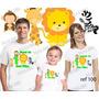 Lembrança De Aniversario Safari Leão Camiseta Kit Com 3