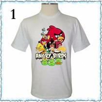 Camiseta Adulto E Infantil Angry Birds Camisa Personalizada