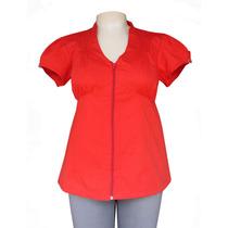 Blusa Plus Size Com Zíper (tamanhos Grandes)