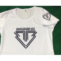 Camiseta Kpop K-pop Bigbang Big Bang Boygroup Coreano