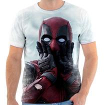 Camiseta, Camisa Deadpool Super Herói Engraçado Moda 02