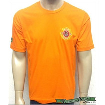 Camiseta Bombeiro Civil - Bombeiro - Brasão - Laranja