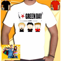 Camisa Green Day South Park Camisetas Banda Rock Humor Punk