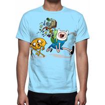 Camisa, Camiseta Hora De Aventura - Finn, Jake E Jujuba