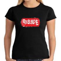 Camiseta Baby Look Rbd - Rebelde - Feminino