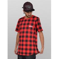 Camisa Zipper Xadrez Swag Tyga Hip Hop Feixo Lateral