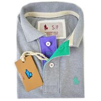 Camisas Polo Masculinas Blusa Slim Fit Camisetas