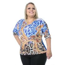 Blusa Feminina Estampada Plus Size #ref: 2547