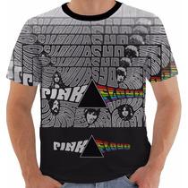 Camisa Camiseta Baby Look Pink Floyd Psicodélica