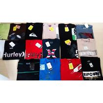 Kit 5 Camisetas Quiksilver Hurley Bilabong Ripcurl Original