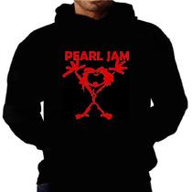 Blusa Moletom Pearl Jam Capuz Bolso Banda Rock Moleton Frio