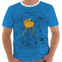 Camiseta Hora De Aventura 2 - Jake - Finn - Adventure Time