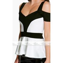 Blusa Feminina Peplum Plus Size S/renda Blusa Ciganinha G,xg