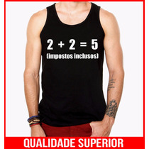 Camiseta Regata Masculina Engraçadas Personalizadas Impostos