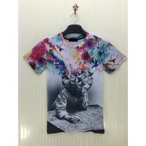 Camiseta Masculina Tamanho M Estampada Importada 3d