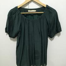 Blusa Verde Cris Barros De Seda Tamanho 38. Usada!