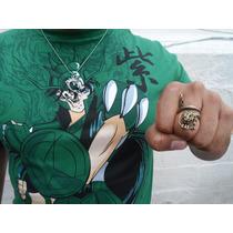Kit Cavaleiro Shiryu De Dragão Camiseta + Colar + Anel