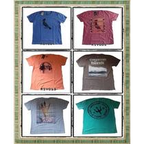 3 Camisetas Osklen/reserva/hollister/abercrombie/originais