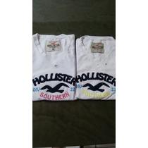 Camisa Hollister Feminina Manga Curta Baby Look