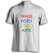 Camiseta Personalizada Sua Estampa Foto Imagem Masc E Fem
