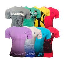 Kit 10 Camisetas Masculina Lacoste Ou Quiksilver Imperdível!